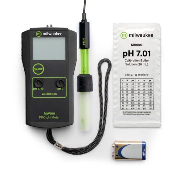 MW100 PRO hordozható pH  mérő
