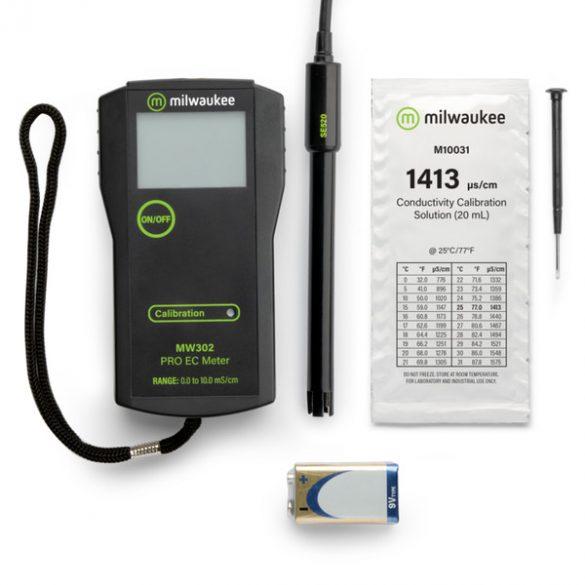MW302 PRO hordozható EC mérő