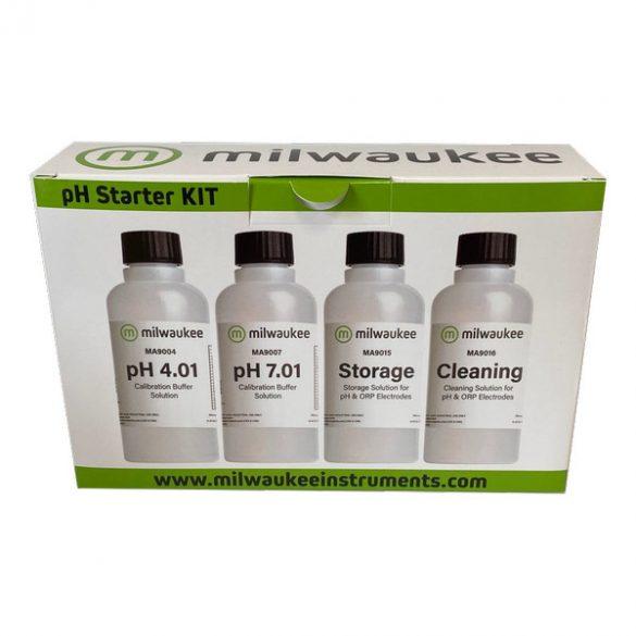 pH-START pH kalibráló, tároló és tisztító oldat csomag